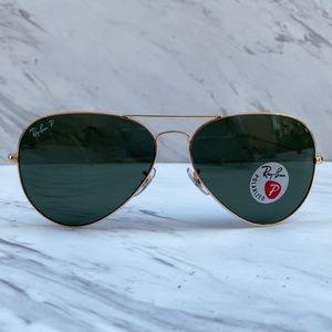 😎 Ray-Ban Aviator Large RB3026 Gold POLARIZED